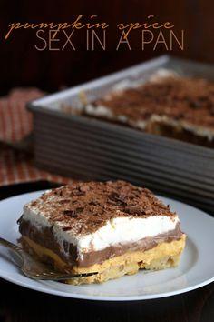 Amazing low carb pumpkin dessert recipe. Chocolate Pumpkin Sex In a Pan. #lowcarb #sugargree #grainfree