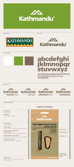 Kathmandu brand identity by Strategy Design & Advertising branding