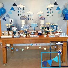 Chá de bebê Menino: Mais de 50 ideias – Inspire sua Festa ®