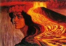 She is Pele-honua-mea, Pele of the sacred land. She is Pele-'ai-honua, Pele the eater of land, when she devours the land with her flames. The wars were over and the Kingdom of Hawai'i firmly established: Herb Kawainui Kane Hawaiian Mythology, Hawaiian Goddess, Hawaiian Art, Hawaiian Tattoo, Hawaiian Tribal, Vintage Hawaiian, Kia Ora, Tutu, Hawaii Volcano