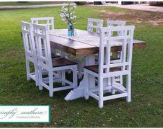 Farmhouse Table w/ Square 4 x 4 Legs Custom Built