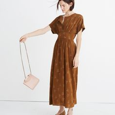 Madewell x No.6 Silk Kimono Dress in Wisteria Spray