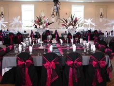 Pink Black and White Wedding | Ideas for Black/Hot Pink and bling wedding colors?! | Weddings, Beauty ...