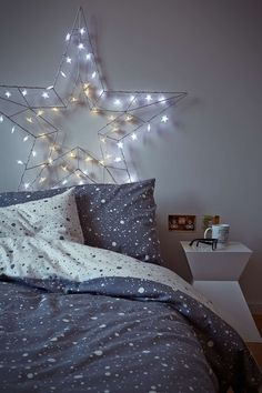 I want this duvet set! Urban Outfitters Speckle Grey Duvet Set
