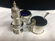STERLING SILVER 3 PIECE CONDIMENT SET | eBay