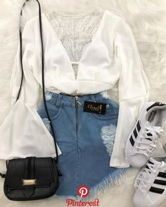 Sweet 100 Casual Outfit Ideas You Might Like Teen Fashion Outfits, Look Fashion, Outfits For Teens, Trendy Outfits, Korean Fashion, Girl Outfits, Womens Fashion, Sport Chic, Outfit Goals