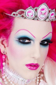I am mesmerized by drag queen eye-makeup.  I would love to learn how to apply it properly and then work as a makeup artist for a drag show.