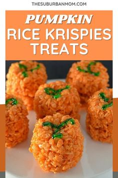 Make these sweet rice krispie treats for your home and for the trick or treat kids. It's something kids want and you know you want it! These spookily delicious Halloween dish recipe is so much fun to prepare and can serve as a Halloween decoration as well! Yep, it's that cute! Be sure to check also the blog to know more about this recipe. #pumpkinrecipe #pumpkindesserts #ricekrispierecipe #halloweenpartyfood #partyfoodideas Halloween Dishes, Halloween Food For Party, Halloween Treats, Pumpkin Rice Krispie Treats, Rice Krispy Treats Recipe, Kid Friendly Meals, Pumpkin Recipes, Yummy Snacks, Rice Krispies