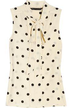 Hot Dot silk blouse