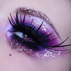 I love this sparkly purple eye! #makeup #beauty