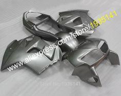 Hot Sales,Body aftermarket Kit For Honda VFR800 98 99 00 01 VFR 800 VFR800RR 1998 1999 2000 2001 VFR 800RR silver Moto Fairing