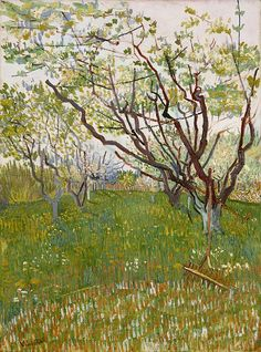 Cherry Tree 1888 ~ Van Gogh was taken by the landscape and vegetation of the…