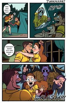 Horror Movies Funny, Horror Films, Scary Movies, Horror Art, Horror Icons, Horror Comics, Cute Comics, Funny Comics, Scary Movie Characters