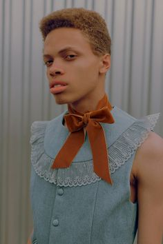 Gender neutral editorial Nicholsons aesthetic and softer silhouettes may be considered more feminine today, but his perspective seems to remain on the pulse of whats happening in menswear. Queer Fashion, Androgynous Fashion, Fashion Tips, Fashion Design, Androgyny, Fashion Ideas, Fashion Quotes, Ladies Fashion, Womens Fashion