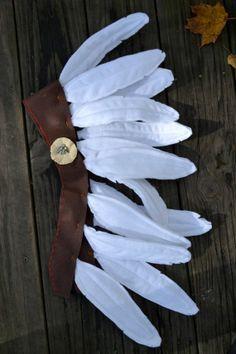 Tocado de plumas indio en fieltro, para disfraz - Felt Indian Headdress/Costume