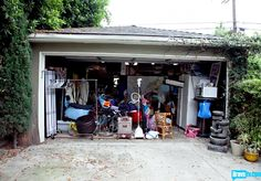 Ross and Sal's garage BEFORE Jeff moved in.