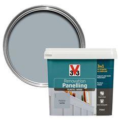 v33 renovation pearl barley satin kitchen cupboard cabinet paint