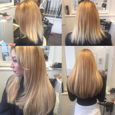 Willow Hair Consultants Before and After Gold Fever Hair Extensions