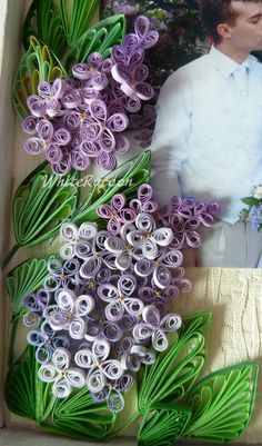 WhiteRacoon's handcrafts blog: Quilled lilacs photo frame