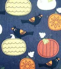 Autumn Inspirations Fabric- Crows & Pumpkins