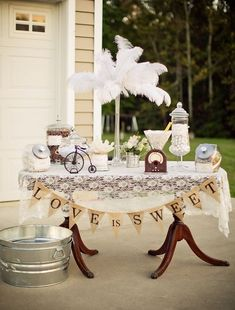 Vintage Style Candy Table by Sweet Yabby Events featured on Celebrations At Home