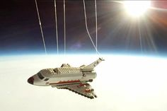lego shuttle is sent to the space!
