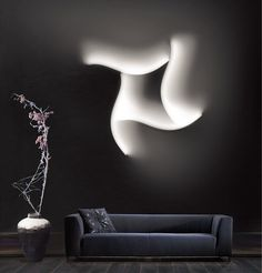 LED wall lamp FORMALA PLUS 1 by Cini&Nils design Luta Bettonica