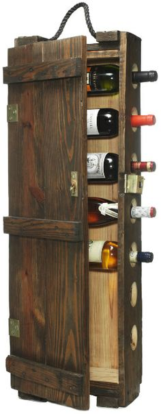DIY Wine Storage Racks (for my mother, w/ it's wine time tacked to the door)