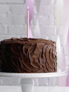 Make sure to save room for a second slice of this Double Chocolate Cake! More of our best chocolate cake recipes: http://www.bhg.com/recipes/desserts/cakes/chocolate-cakes/?socsrc=bhgpin080813doublechocolate=16
