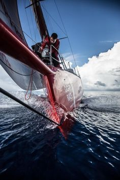 Bowman earning his keep on Mapfre in the Volvo Ocean Race   RePinned by : www.powercouplelife.com