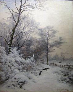 Heinrich Gogarten (1850 - 1911) Title:   Winter landscape with crows