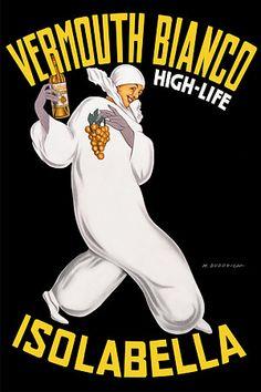 AV65 Vintage 1946 Mandarinetto Isolabella Italian Liqueur Drinks Poster Print A4