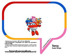 Plaquinhas Divertidas Super Wings 38