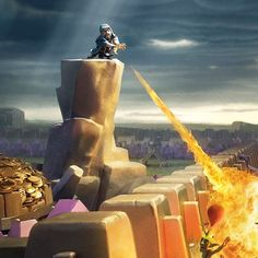The Wizard That Let None Pass, a true Tale of Clash Achievery! Coc Clash Of Clans, Clash Of Clans Game, Nintendo Ds Pokemon, Barbarian King, Clash On, Arte Nerd, Nova, Games Images, Pokemon Cards