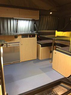 IMG_2955 (1) Campervan Interior Volkswagen, Vw Transporter Camper, Kombi Motorhome, T5 Camper, Camper Interior, Vw T5, Campervan Bed, Campervan Ideas, Cargo Van Conversion