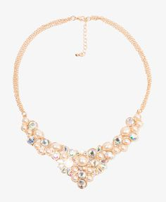 Sparkling Pearlescent Necklace | FOREVER21 - 1031557061 $10.80