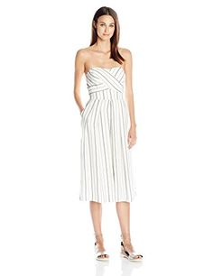 d9156bbcf92b Greylin Womens Nina Culotte Jumpsuit White XSmall     Continue to the  product at the image link.