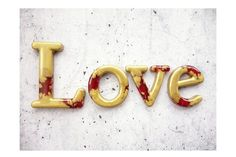 Love Sign Home Decor Sign in Metallic Resin by WordosaurusText