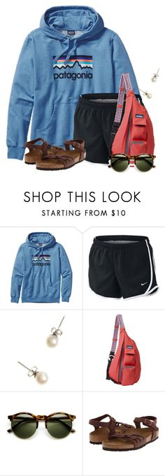 """3 months until camp:)"" by flroasburn on Polyvore featuring Patagonia, NIKE, J.Crew, Kavu and Birkenstock"