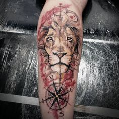 """Lion Tintas Electric Ink ""Agora parem de fazer leao kkkk please"" #tattoo #lion…"