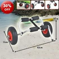 60kg Aluminium Wheeled Kayak Canoe Trolley - Aluminium Frame - Compact Construction