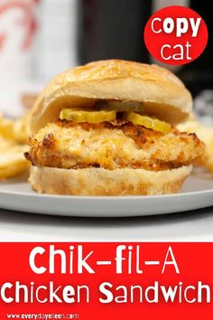Air Fryer or Baked Chik-fil-A Chicken Sandwich, absolutely delicious and blows away any fast food sandwich. Fresh flavors and easy to make. A hit with the family every time. #chikfilachicken #chickensandwich