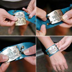 Lenny & Eva sentiment cuffs you create yourself!  www.morethanwords.com