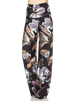 Unique Printed Palazzo Pants Banded High Waist or Fold Over Fabric: Polyester, Spandex Hemline made to cut to adjust pant length Waist Inseam Small 34 Medium 34 Large 34 Wide Leg Palazzo Pants, Printed Palazzo Pants, Next Fashion, Fashion Outfits, Womens Fashion, Gaucho, Wardrobes, Lounge Wear, High Waist