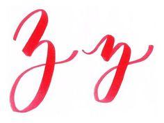 Finally got the brush letter alphabet finished for @letterarchive! Here's z!