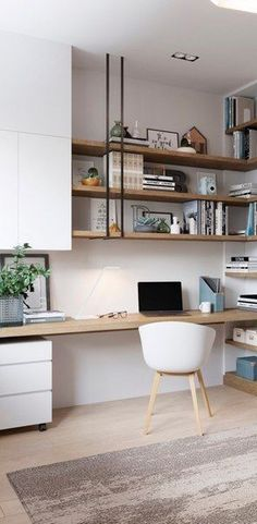 - Home Office with a feminine touch! Who rules the world?, - – Home Office with a feminine touch! Who rules the world? And s…, – Home Office with a feminine touch! Who rules the world? Guest Room Office, Home Office Space, Home Office Design, Home Office Decor, House Design, Office Style, Office Ideas, Office Interiors, Room Decor