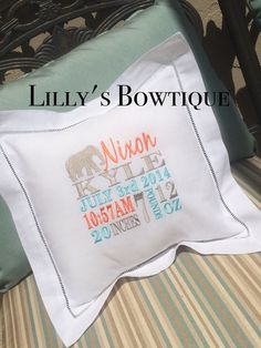 Princess themed birth announcement pillow new baby gift birth announcement pillow new baby gift by lillysbowtique on etsy negle Image collections