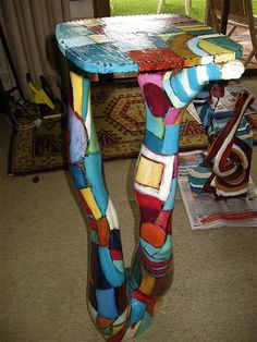 Three Dimensional Abstract Art Using Mannequins Funky Furniture, Painted Furniture, Mosaic Projects, Art Projects, Mannequin Legs, Sculpture Art, Sculptures, Art Abstrait, Mannequins
