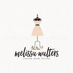 dress logo design seamstress logo dress by stylemesweetdesign