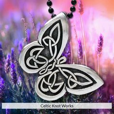 Celtic Butterfly Pendant by Celtic Knot Works Starting at $17.50 https://www.celticknotworks.com/collections/pewter/products/celtica-butterfly-pendant